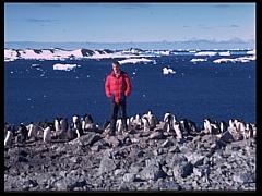 C. Kiepke bei der Teilnahme an einer Antarktisexpedition